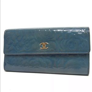 Authentic CHANEL Camelia Long Wallet